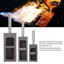 Professionele Pure Graphite Ingots Casting Mold Mould Smeltkroes Voor Goud Zilver Smelten Casting Raffinage Sieraden Maken Tool