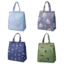 Cute Lunch Bags For Women Kids Picnic Beach School Flamingo Portable Bag Tote Handbag Food Container Kitchen Storage