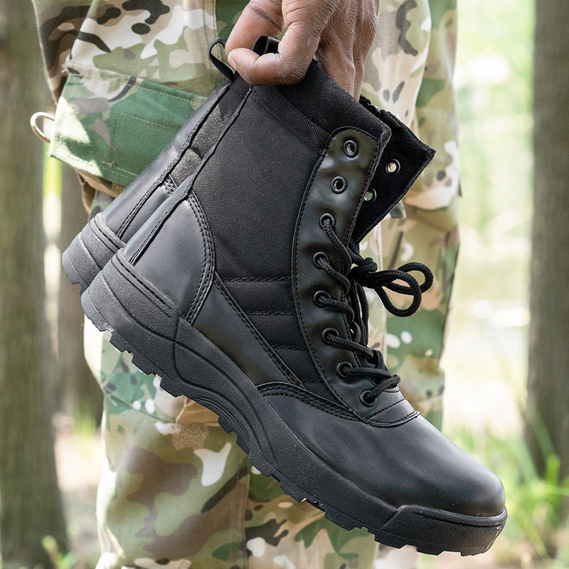 Outdoor Tactical Boots Amu Army Fans Hiking Boots Anti-slip Combat Boots Hight-top Desert Boots