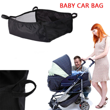 Baby Stroller Basket Newborn Stroller Hanging Basket Infant Stroller Accessories Pram Bottom Basket Portable Organizer Bag