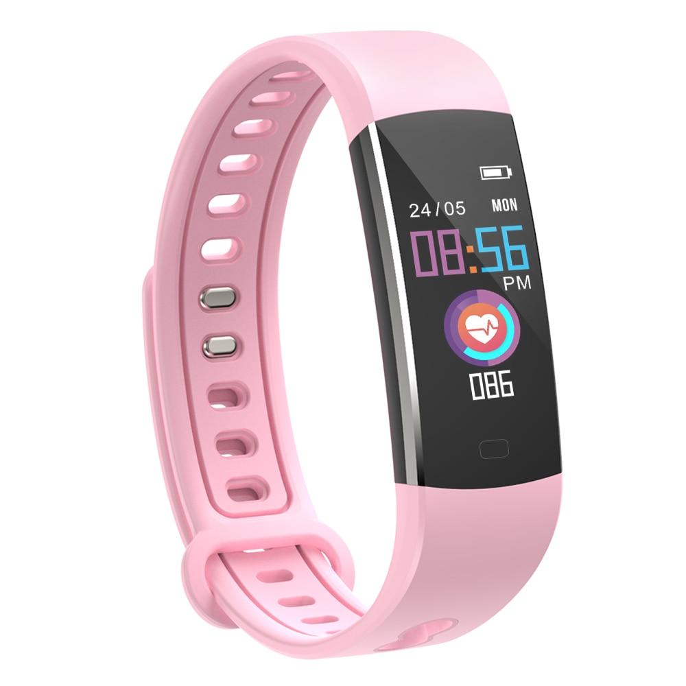 Smart Bracelet Blood Pressure Measurement Waterproof Fitness Tracker Watch Control Activity Women Kids