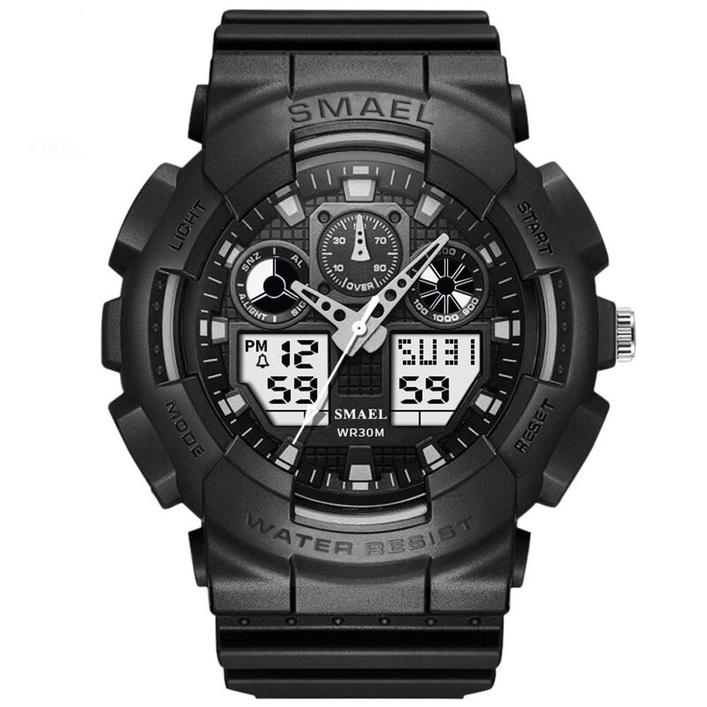 SMAEL Men Women Wristwatch Couple Watch Multifunction Waterproof Electronic Watch For Outdoor Sports