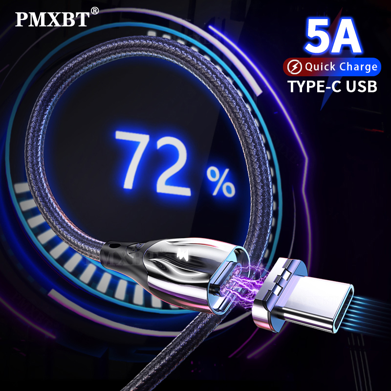 Super 5A USB Fast Magnetic Charger Cable For Huawei Mate 30 20 P30 P20 Pro Lite Quick Charging Data Wire Magnet Phone USB C Cord Mobile Phone Cables    - AliExpress