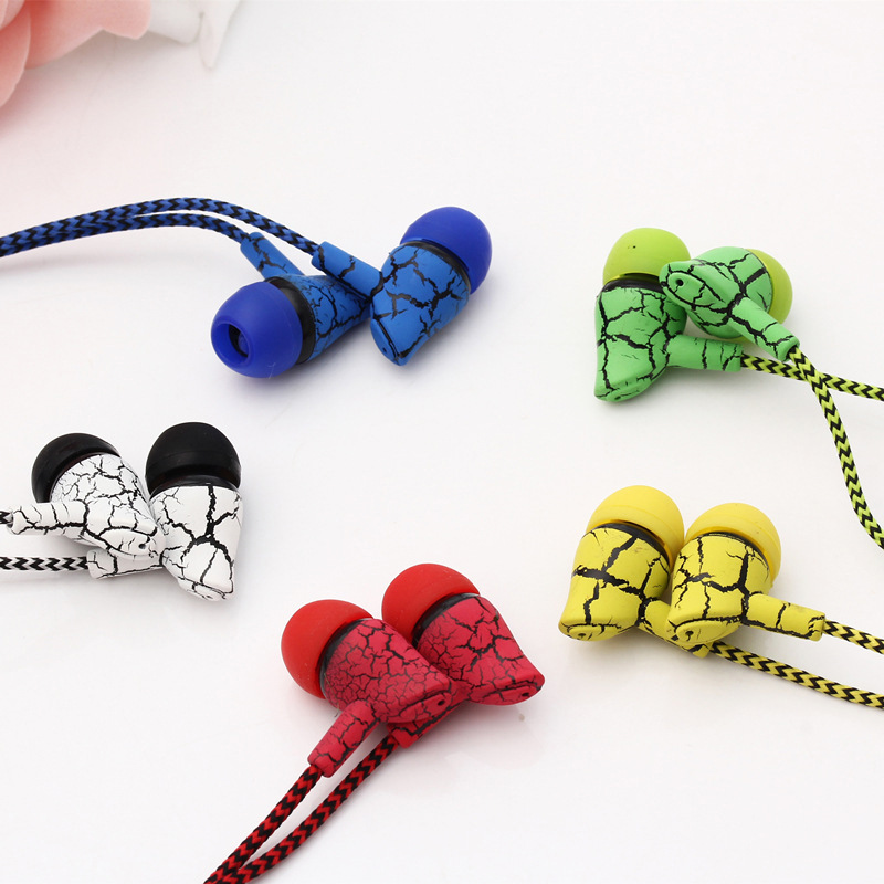 New Arrival Earphone Wired Earphones Super Bass 3.5mm Crack Earbud With Microphone Hands Free Earpiece For Samsung Xiaomi