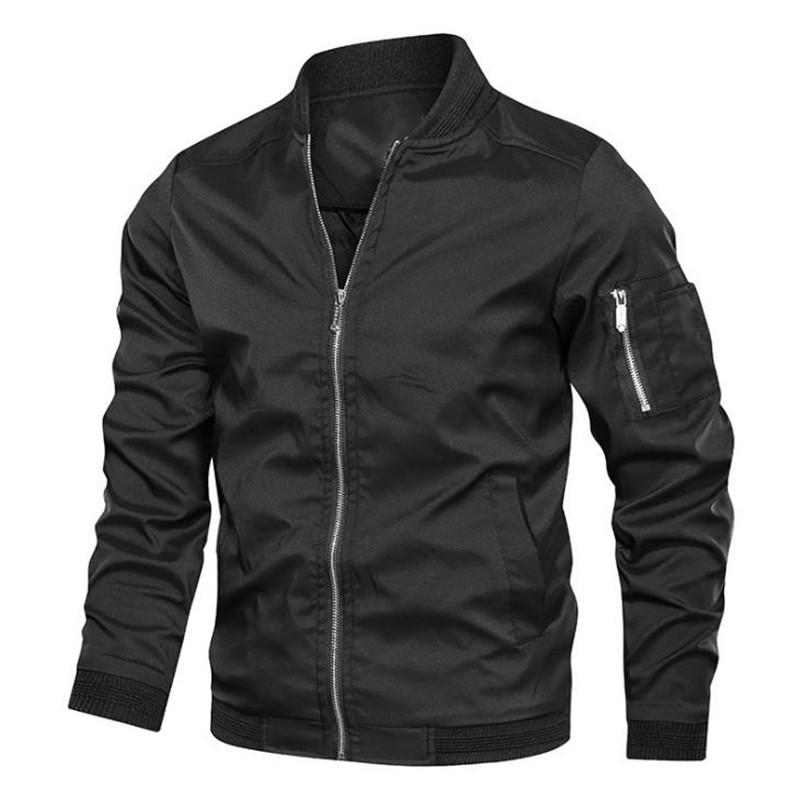 Spring autumn jacket male bomber jacket casual streetwear male jackets and coats simple windbreaker british style coat