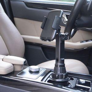 """Image 5 - Araba bardak tutucu telefon dağı ayarlanabilir açı yükseklik standı için 3.5 6.5 """"cep telefonu"""