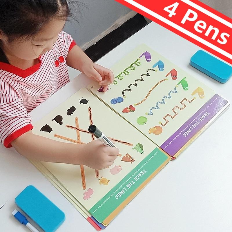 Tablet de desenho infantil montessori, brinquedos diy, jogo de matemática em cores, conjunto de livro de desenho, brinquedos educativos para crianças 1