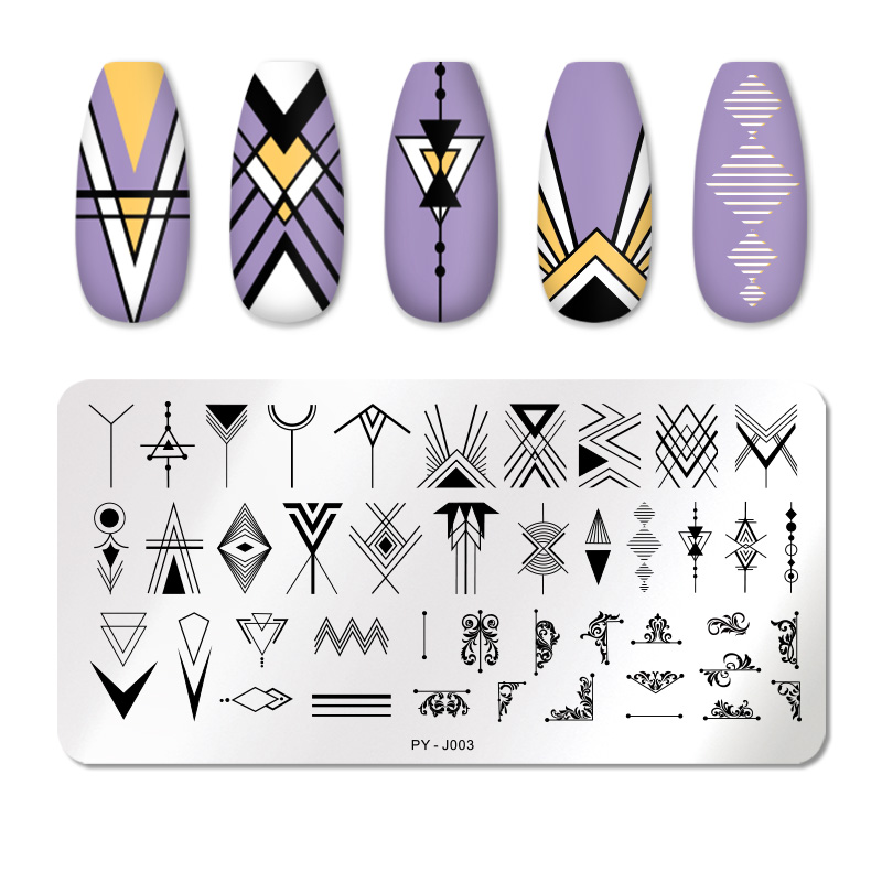 PICT YOU 12*6cm Nail Art Templates Stamping Plate Design Flower Animal Glass Temperature Lace Stamp Templates Plates Image 44