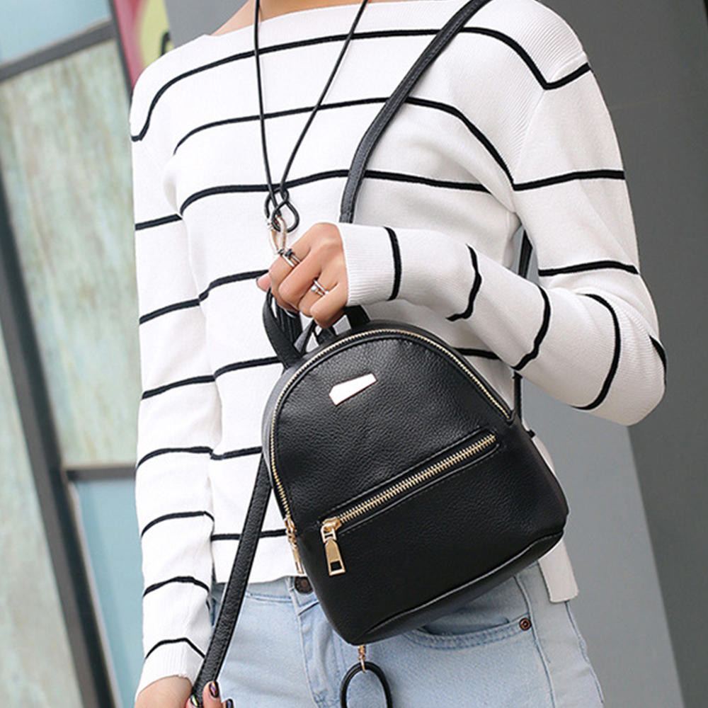 2020 Korean School Bags Girls Leather Backpack School Rucksack College Shoulder Satchel Travel Bag Plecak