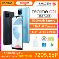 realme C21 Global Version 3GB/32GB 4GB/64GB NFC 5000mAh Battery Helio G35 13MP Camera NFC 1