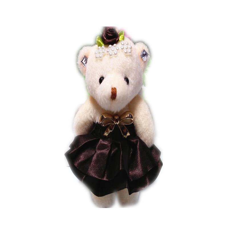 12 шт./лот 12 см Плюшевые свинки одежда с изображением мишки кукла-сумка для телефона ключей кулон ouquet материал