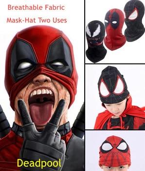 Breathable /Venom/Spiderman/ Deadpool /Mask Costume Lycra Adults Kids Hats Mask Halloween Party Cosplay Mask children halloween avengers hulk incredibles spiderman deadpool muscle costume and mask superheroes carnival cosplay fancy dress