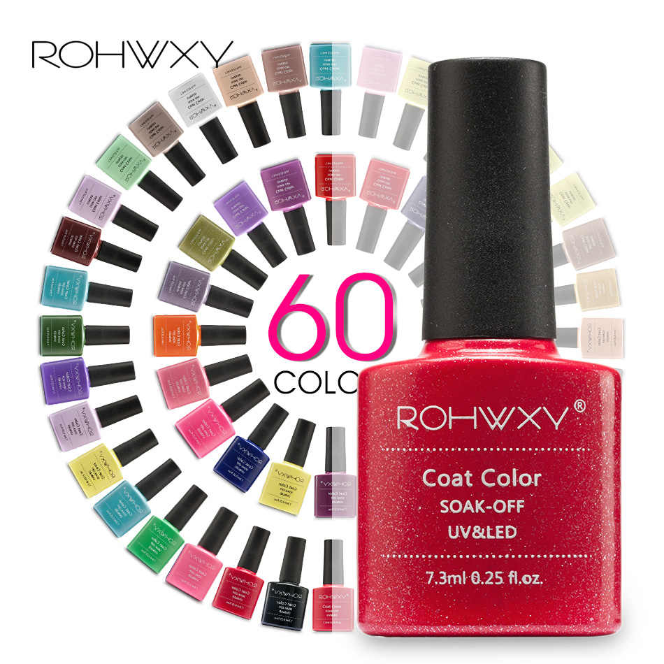 ROHWXY Híbrido Unhas Embeber-Off UV Gel Nail Polish Verniz Semi Permanente Top Coat Base de Nail Art Para Todos polonês Gel Manicure Gellak