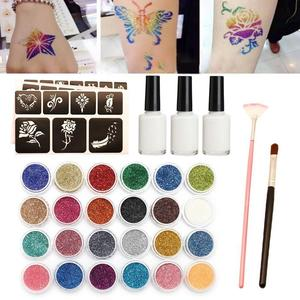 Diamond Glitter Tattoo Set Sem