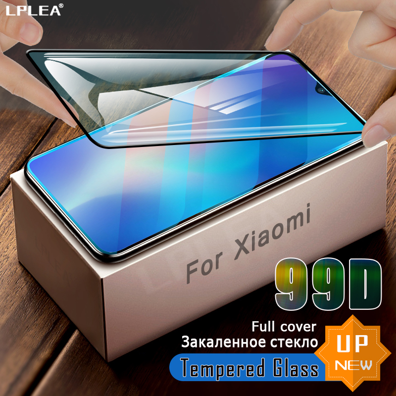 99D Full Cover Screen Protector Glass For Xiaomi mi 9 se 8 Lite Tempered Glass For mi 9T Pro A1 A3 Redmi 7A Note 8 9S 9 Pro Film(China)