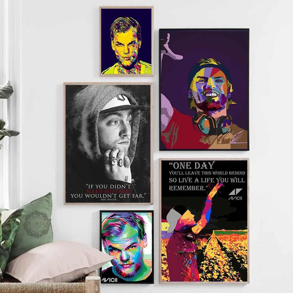 Avicii Muziek Zanger DJ Ster Poster Wall Art Foto Posters en Prints Canvas Schilderij voor Kamer Home Decor