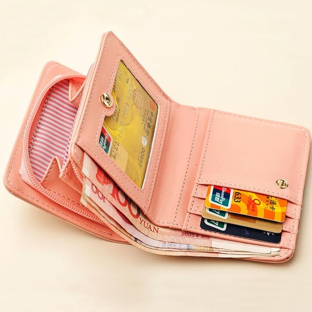 Women Small Wallet (Cute Cat)
