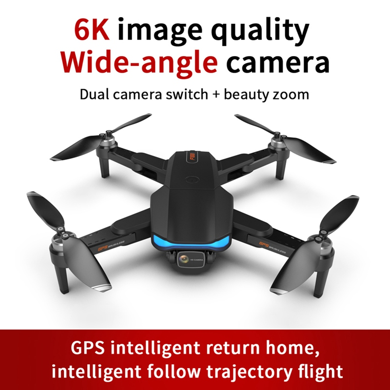 Drone GPS 6k Profesional Brushless Motor 5G Quadcopter With Camera Dual HD FPV Foldable Drones WiFi RC Helicopter Gifts new