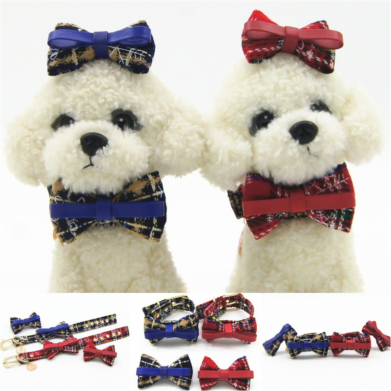 Christmas Series With Headband Pet Collar Dog Traction Pet Supplies