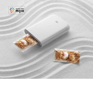 """Image 5 - Impressora portátil xiaomi foto de 300dpi, mini impressora de fotos, de bolso, com compartilhamento """"faça você mesmo"""", 500mah, impressora de fotos, funciona com aplicativo mihome,"""