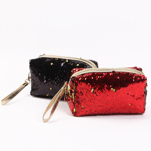 New Style Fashion Women Storage Bag Multicolor Sequins Mermaid Glitter Cosmetic Bag Make-up Clutch Bag  Party Pouch Travel new zipper cosmetic bag fashion mermaid double sided color sequins cosmetic bag ladies cosmetic bag party bags free shipping