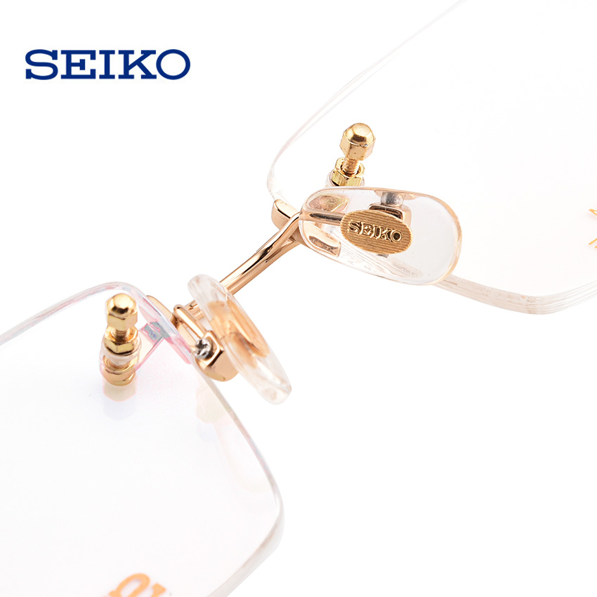 Image 5 - SEIKO Rimless Eye Glass Frame Men Myopia Square Nearsighted Glasses Prescription Titanium Optical Spectacles Frames Man HC1019-in Men's Eyewear Frames from Apparel Accessories