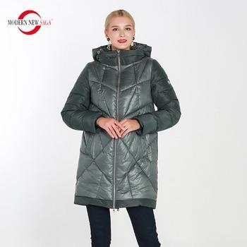цена на MODERN NEW SAGA 2020 Winter Women Coat Warm Long Jacket Parka Women Winter Thick Cotton Padded Coat Overcoat Womens Coats Winter