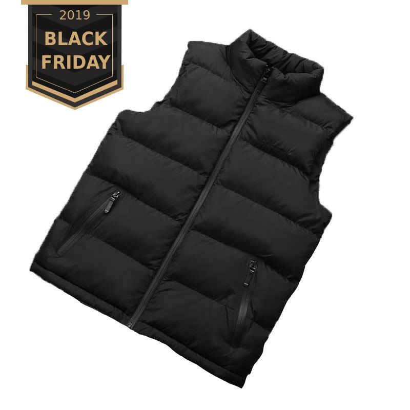 FALIZA 2019 New Autumn Men Vest Sleeveless Jacket Men Winter Waistcoat Men's Vest Fashion Casual Coats Mens Plus Size 8XL MJ108