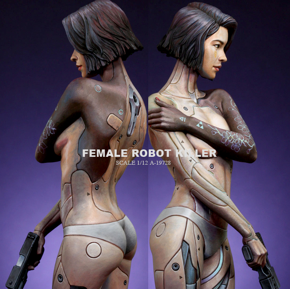 1/12 Resin Kits Mipai Intelligent Bionic Female Mechanical Killer Code Colorless And Self-assembled A-19728