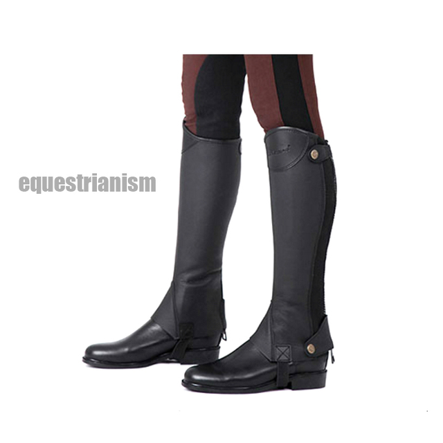 Equestrian Leggings Microfiber PU Horse Riding Boots Cover Adults Children Leg-protector Paarden Equitation Equipement Cheval 2