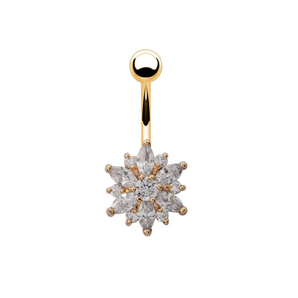 H215c375598ca4359bf9435feb1ea42dbH Navel Piercing Body Jewelry Crystal Flower Belly Button Ring
