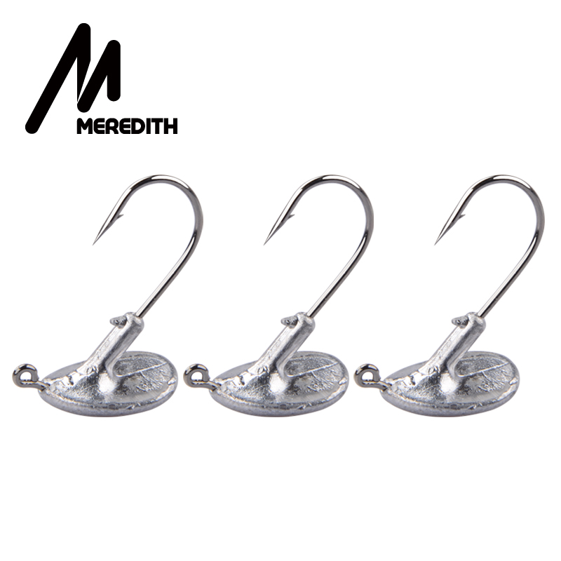 MEREDITH 10PCS/Lot Blood Slot Lead Jig Head Tumbler Fishing Hook 3.5g 5g 7g 10g 14g Hook For Soft Lure Carbon Steel Fishing Hook