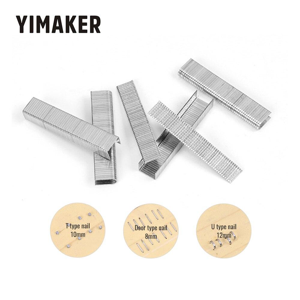 1000Pcs U/ Door /T Shaped Staples Nails For Staple Gun Stapler Furniture Interior Decoration Wood Processing Gun Code Nail