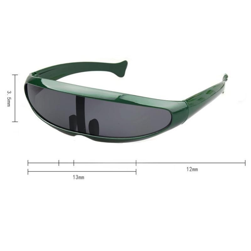 3 Pcs Novelty Unisex Futuristic Narrow  Party Cosplay Single Sunglass