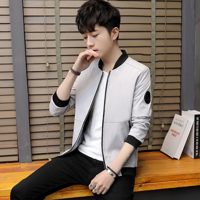 Men's MEN'S Jacket Casual Slim Fit Thin Autumn Clothing Fashion Coat Men'S Wear in Stand Collar Jacket Hot Selling