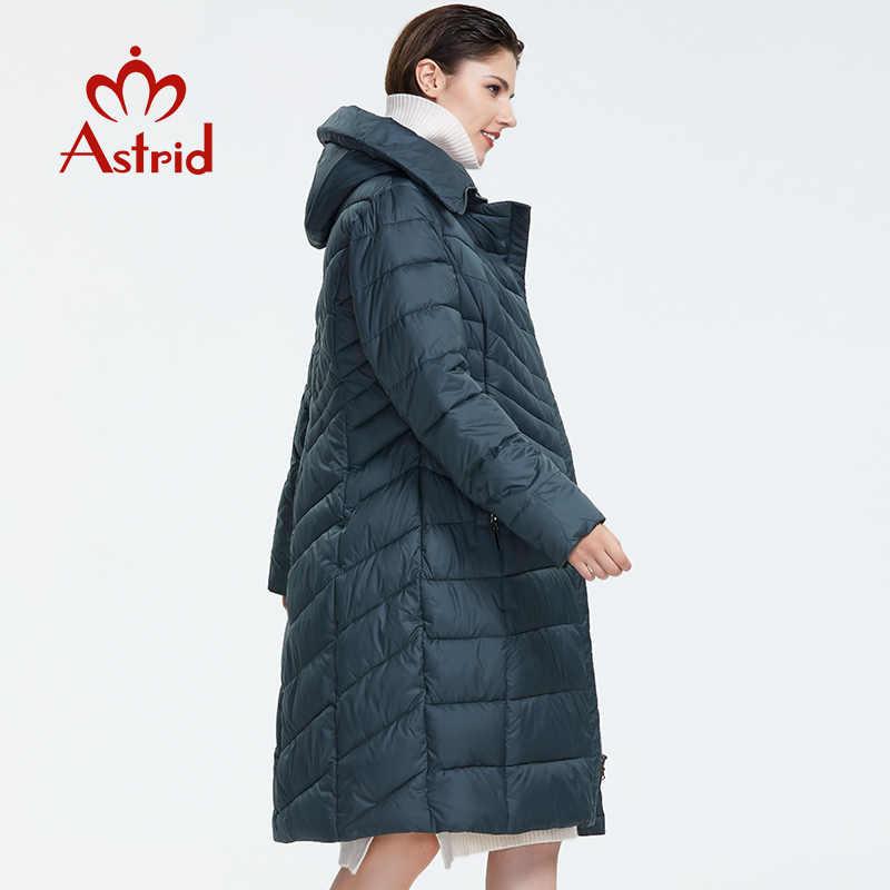 Astrid 2019 kış yeni varış şişme ceket kadınlar giyim yüksek kaliteli koyu renk moda ince stil uzun kış ceket AR-1110