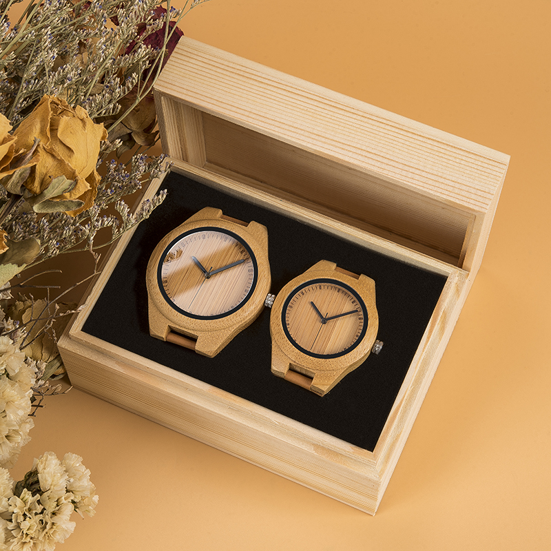 Couple Watch BOBOBIRD Wood Watch Men Women Wristwatch Customized Lovers Anniversary Gifts Jewelry In Wooden Box Christmas Gift