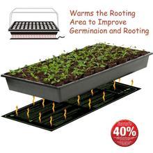 Термоковрик для рассады водонепроницаемый прочный станция для прорастания теплая гидропонная грелка для домашнего сада Семена 30x10in