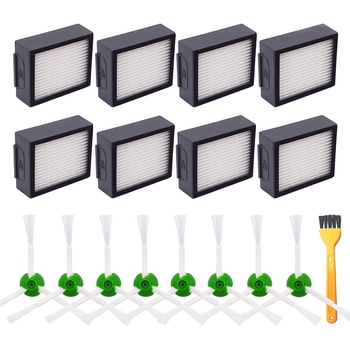 Replacement Parts Kit Multi-Surface Brush Filter Side Brush Accessory Kit Compatible for IRobot Roomba I7 E5 E6 Series Vacuum Cl compatible hp2300 maintenance kit 220v u6180 60002 for lj 2300 series page 4