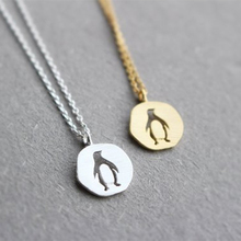 Necklace 2019 Lucky Origami Penguin Necklace for Kids Girls Lovely Vivid Animal Penguin Pendant Necklace Trendy Jewelry все цены