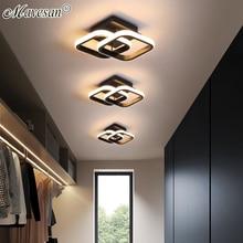 Arañas LED redondo/cuadrado para balcón, pasillo, dormitorio, cocina, galería, luces de aluminio para interior del hogar, accesorios de AC90-260V