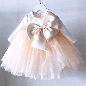 Одежда для новорожденных; Платье с бисером для маленьких девочек; Вечерние платья с длинными рукавами на 1 год; Платье принцессы; Костюм для ...