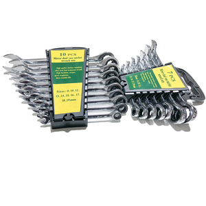 8-19mm Ratcheting Box Combination Wrenches for Car Repair Ring Spanner Hand Tools A Set of Key