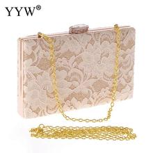 Clutch-Bag Pochette Mariage Purse Lace Floral White Women Ladies YYW Party for Sac Evening