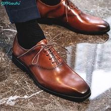 Мужские туфли qyfcioufu из натуральной кожи с острым носком