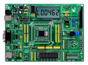 easyPIC Pro Learning Development Board dsPIC PIC32 PIC24 with dsPIC33FJ256GP710A