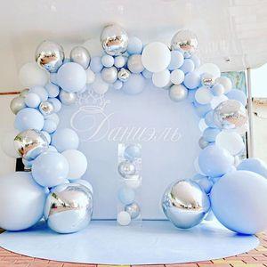 Первый День рождения Свадебные Воздушные шары-гирлянды С Днем Рождения Декор для вечеринки дети мальчик девочка ребенок душ балон круглый, ...