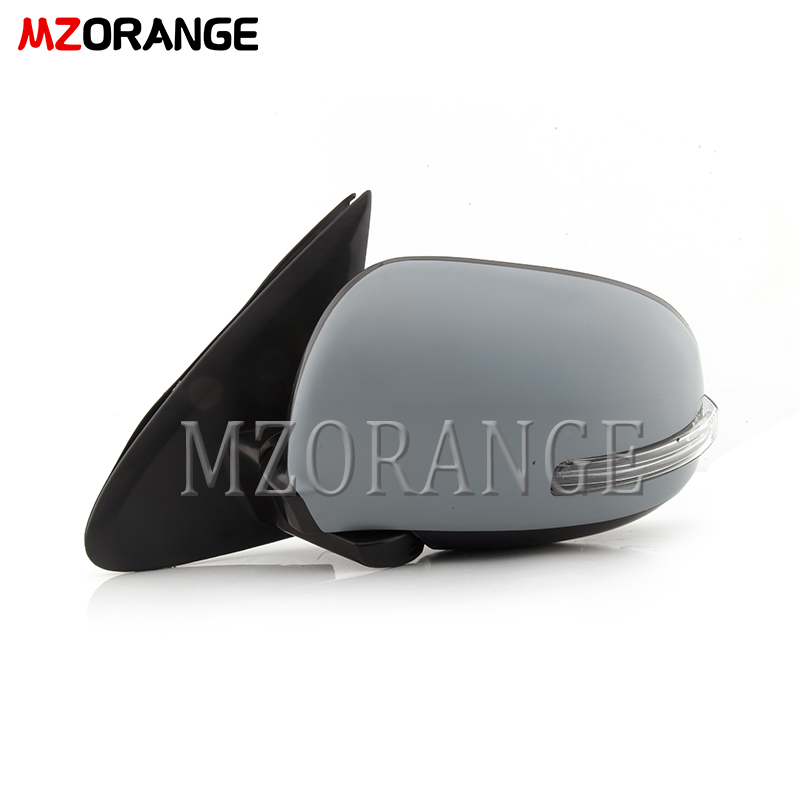Side Mirror Assembly for <font><b>Mitsubishi</b></font> <font><b>Outlander</b></font> 2013-2018 Door Wing Rearview Mirror Reflector Led Turn Signal <font><b>Lights</b></font> Side Mirror image