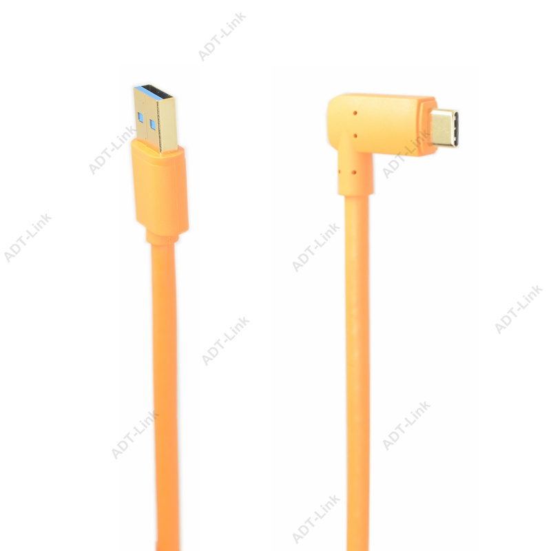 USB 3.0 To USB-C (High-Visibility Orange) For Tethering A USB 3.0 Camera To A Computer With The Smaller USB-C Port 3m 5m 8m 10m