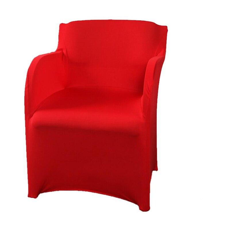 Cadeira do braço do estiramento cobre elastano poltrona capa de festa de casamento capa de cadeira slipcovers para poltronas housse de chaise mariage